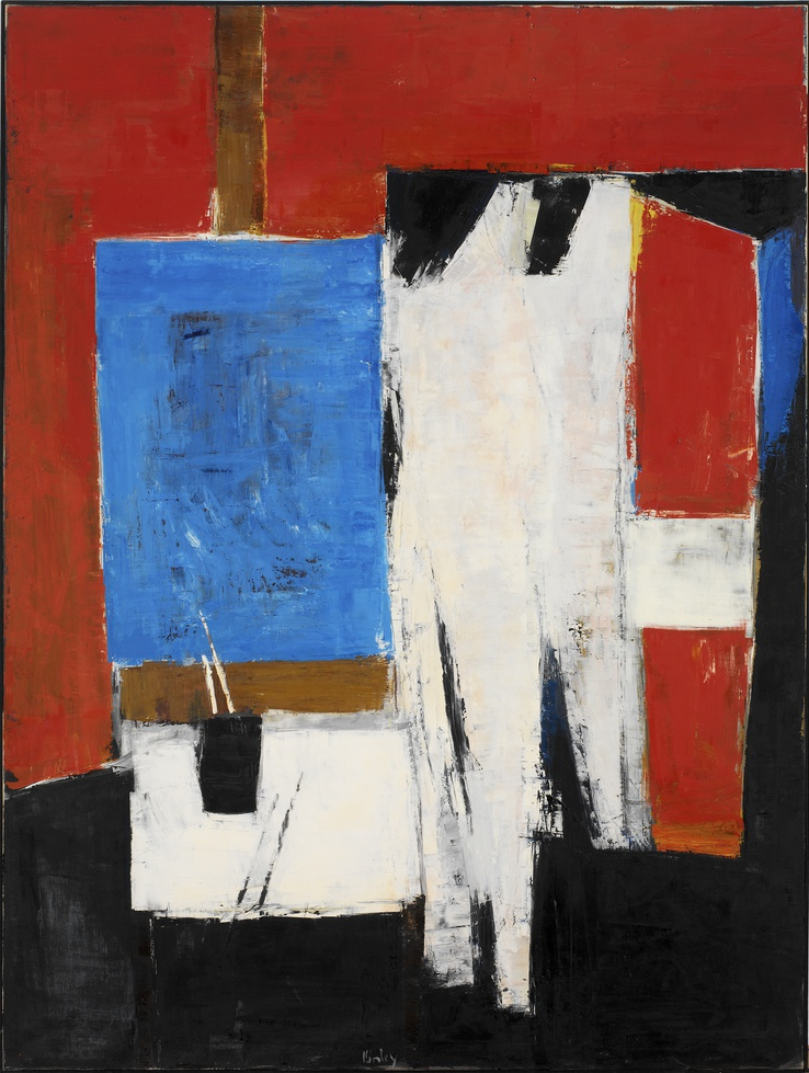 Peter Kinley  Figure with Mirror Easel, 1962  Oil on canvas  182 x 137 cm